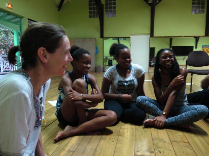 Action Theater workshop in Guadeloupe